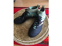 Light and Dark Blue Football Boots ( Size 6)