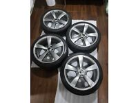 "19"" GENUINE AUDI ROTOR WHEELS AND Matching PIRELLI PZERO set Black edition"