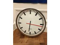 Large M & S clock in black white and red excellent condition 20 inch diameter