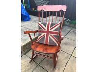 Upcylced rocking chair and cushion