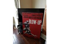 Large canvas print of retro 1960s movie Blow-up. Very good condition.