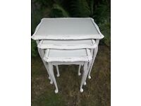 Shabby chic nest of three tables