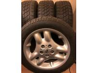 LANDROVER WHEELS NEW WITH NEW TYRES