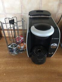 Bosh coffee machine, plus Pod case plus some coffee pods