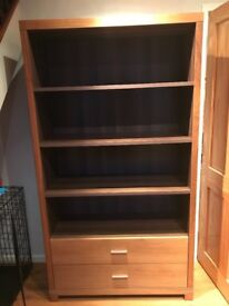 Housing Units Shelving/Cabinet In Walnut H 187cm W 103cm D 40cm