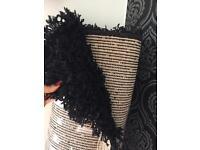 Big black rug