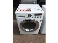 WHITE 8KG 1400 SPIN LG WASHING MACHINE
