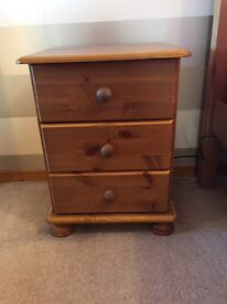 Pine bedside tables x2