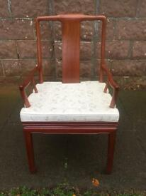 Pair Chinese qing style arm chairs £250 each