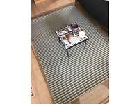 Hardly used, brand new IKEA rug - green stripe