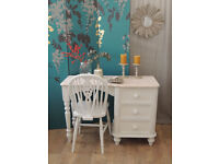 Lovely shabby chic desk with chair by Eclectivo