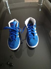 Adidas High Top Trainers size 13.5 (Kids)