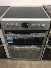 BRAND NEW BEKO BDVC674MS silver 60cm electric ceramic hob cooker with oven & grill