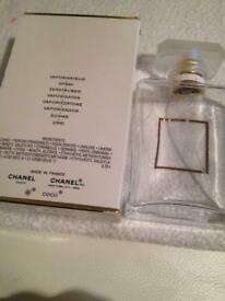 Chanel glass bottle