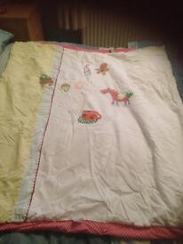 Mamas and papas gingerbread nursery range cot bed quilt and pillowcase