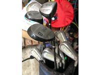 Various golf clubs (sets) and bags