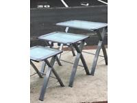 Glass Top Nest of Tables (@07752751518)