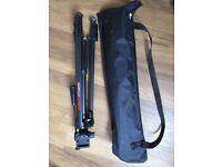 Sturdy camera tripod and carry bag