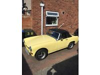 For sale 1976 MG Midget convertible