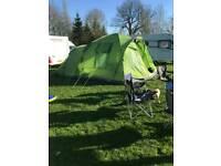Hi gear elite voyager 6 tent + porch + carpet + groundsheet