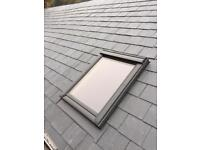 ANY SIZE VELUX ROOF WINDOW SUPPLIED AND FITTED £400 inc all labour and materials)