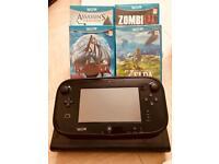 Nintendo Wii U (Mario kart 8 installed ) with Games