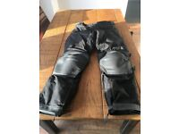"""Textile and Leather Motorcycle Trousers approx 34""""waist"""