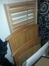 Cot bed, and mattress brand new