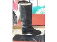 2 pair LEATHER knee high boots(kshoes&vandal)boxed 5&half!&6&half sizes.expensive good quality.