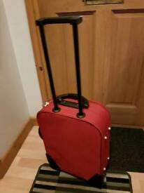 RED suitcase, small luggage.New