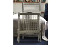 Traditional cot for baby and up to 3/4 years. Some wear on ends but otherwise good condition.