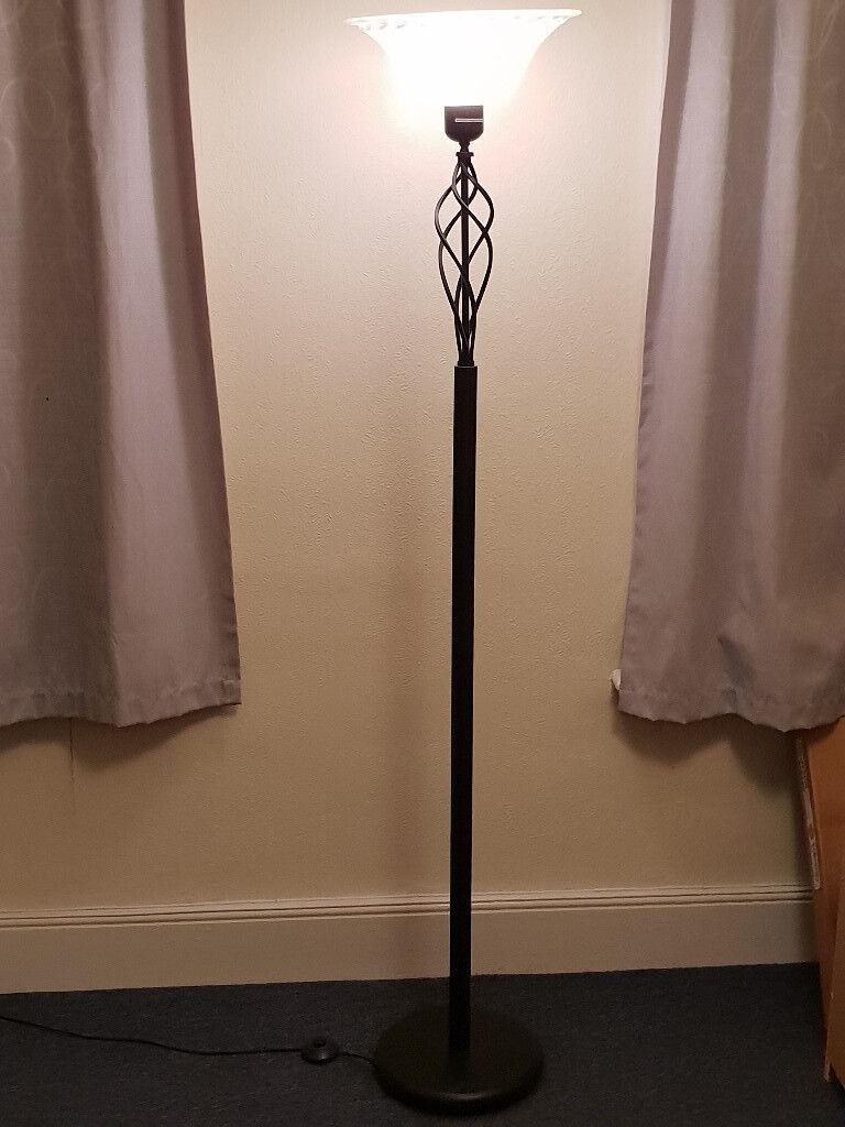 Cameroon Uplighter Floor Lamp Black In Wimbledon London