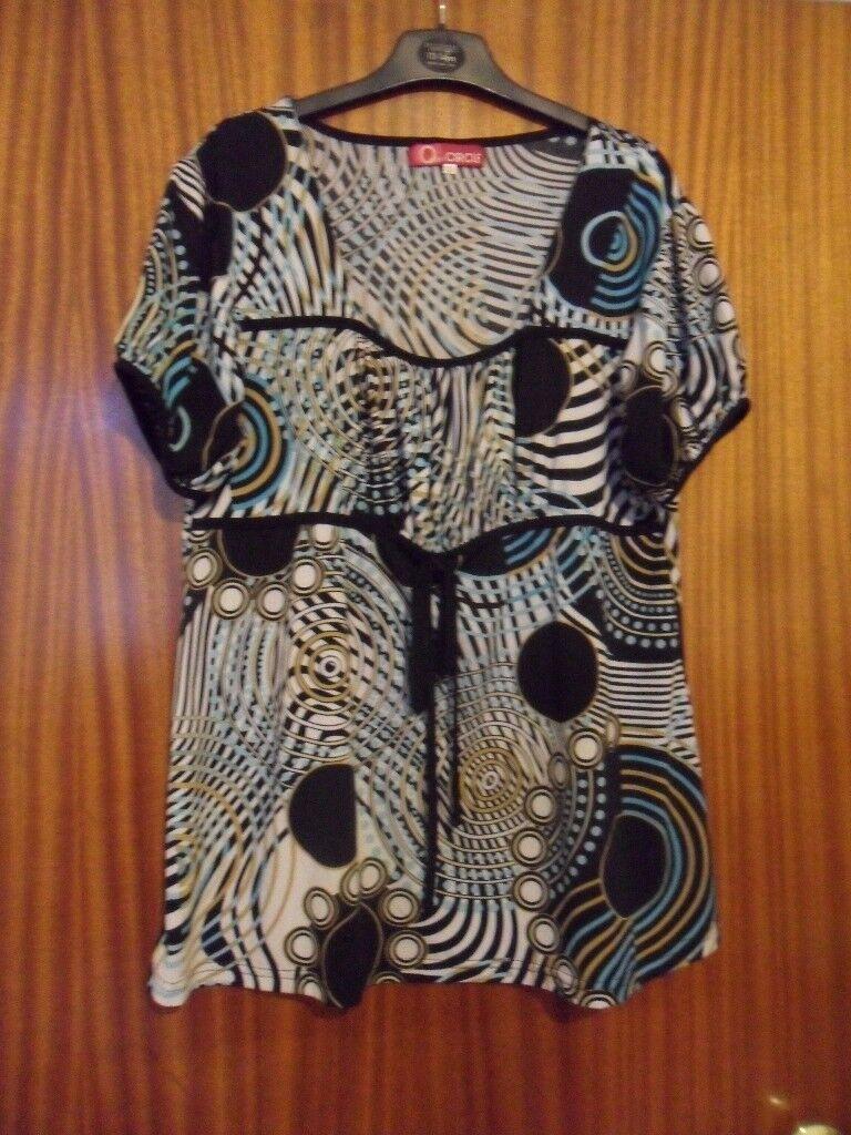 Ladies Short Sleeve Printed Top