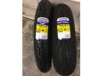 New Michelin motorcycle tyres pair 150/70 17 and 110/80 19