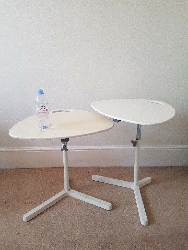2x Ikea Laptop Stand Table White Dave