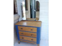 dressing table,chest of drawers,vintage, shabby chic