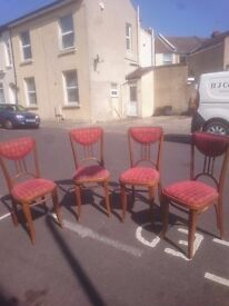 Set of four chairs made by andy thornton for sale £50 ono