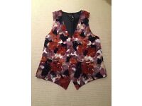Sans Rival Floral Polyester Waistcoat