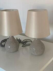 Bedside lamps immaculate x 2