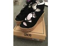 Asos wedge sandals BRAND NEW size 3