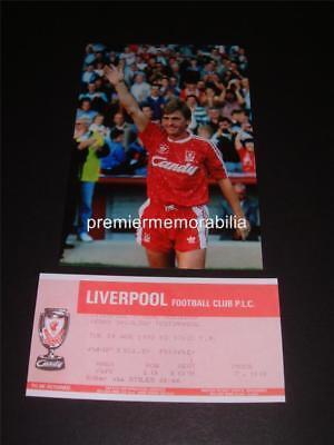 LIVERPOOL FC LEGEND KENNY DALGLISH TESTIMONIAL MATCH 1990 PHOTOGRAPH