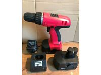 18v Cordless Drill / Driver with 2 Batteries, Good Working Order, although: **Charger NOT Working**