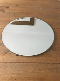 12 x mirrored plates - 30cm diameter (ideal for weddings)