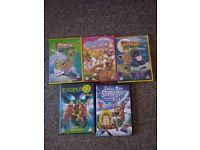 5 SCOOBY DOO DVDS