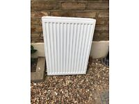 Double panel, double convector radiator 500 x 700 white vgc with brackets