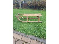 Old wooden sledge
