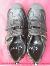 Boys Black M&S School Shoes