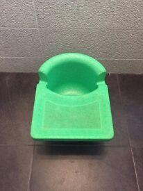 Green Cushi Tush Feeding High Chair - an alternative to bumbo