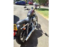 HARLEY DAVIDSON 883,ONLY 2500 MILES,Dry miles only,like a new bike,custom tank,first to see will buy