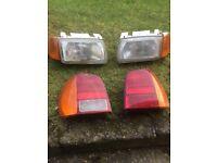 Vw polo headlights brake lights 1996 polo